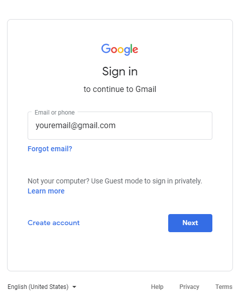 00 - Login to Gmail