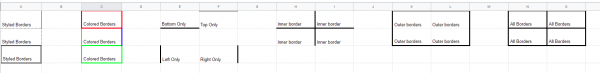 how to outline cells in google sheets