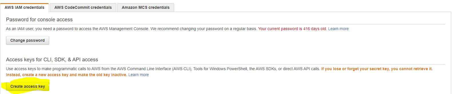AWS - Create Access key