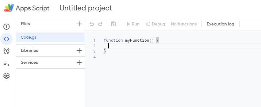 Apps Script IDE